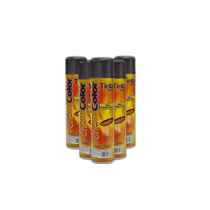 Kit Tinta Spray Preto Fosco Alta Tempera + 2 Lata Verniz