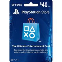 Tarjeta Psn Card $40 Dolares (playstation Network) Americana