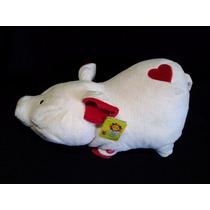 Pelucia - Porquinho Com Coracoes Foffy Toys - Som Caracter.