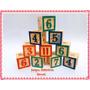 Juego Didáctico Cubos De Madera Letras Números E Imágenes