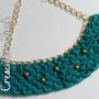 Collar Tejido A Crochet Con Cadena