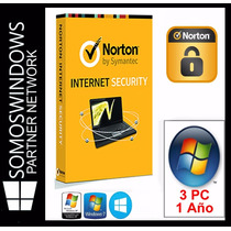 Licencias Antivirus Norton Internet Security 1 Año X 3 Pc