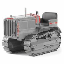 Miniatura Trator Esteira Série D20 Cat Antigo - 55201 - 1:16