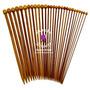 Agujas De Tejer En Bambu $ 185 Pesos El Par
