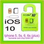 R-sim 10+ Iphone 5 5s 5c 6 6s Plus Desbloqueio Até Ios 10