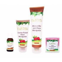 Kit Rosa Mosqueta Aceite, Crema, Mascarilla Y Jabon