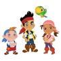 5x1 Kit Imprimible Jake Piratas Invitaciones Candy Bar Marco