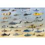 Póster Grande De Helicópteros Militares