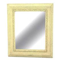 Espelho De Parede Antigo Bege Original Lindos Detalhes