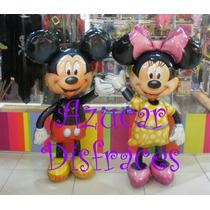 Caminante Globo Metalizado Minnie / Mickey - 1,35 Mts