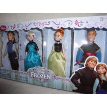 Frozen 4 Bonecos 15cm Elsa Ana Hans Kristoff Original Disney