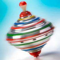 Pião De Alumínio - Brinquedo Tradicional E Educativo!