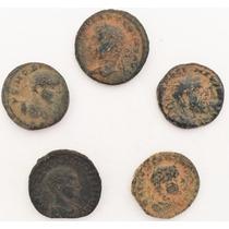 Lote 5 Moedas Antiga Império Romano Cunhadas Síria Antioquia