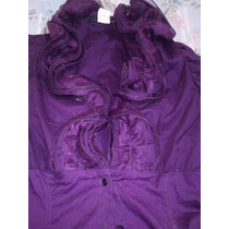 Blusa Casual U Oficina Elegante Violeta Purpura Unitalla