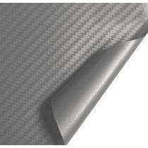 Adesivo Envelopamento Carro Moto Fibra Carbono Prata 1m X 1m