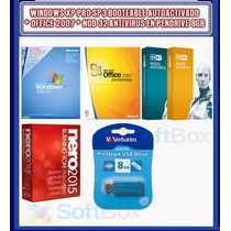 Windows Xp + Office + Nero + Antivirus En Pendrive 8 Gb