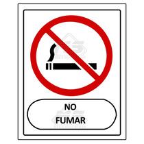 Letreros Señalizacion Prohibido 30x40cm Cal. 40 Fumar Estaci