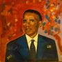 Cuadro Arte Decorativo Retrato Obama Por Jorge Calvo