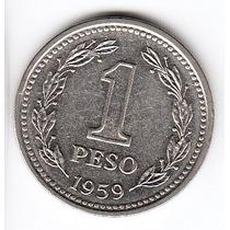 Argentina 1959 Moneda De 1 Peso Cj# 254 Sin Circular