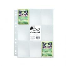 4 X Pacotes 10 Folhas De Fichario P/ Cards Pokemon 9 Bolsos