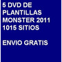 5 Dvd - 1015 Plantillas Web Monster Edicion 2011