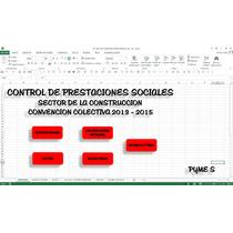 Calculo Prestaciones Sector Construccion , En Excel