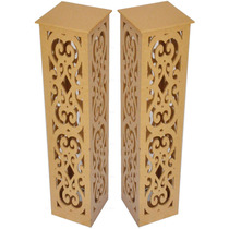 2 Colunas Decorativa Luminarias Casamento E Festas Mdfcru