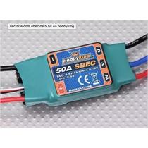 Esc Speed Control Hobbyking Sbec 50a Com Bec