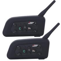 Intercom Bluetooth Moto V6 1200 Capacete - 2 Pçs