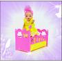Bercinho P/ Bebê Da Barbie + Boneca Bebê ! Cama Berço Kelly