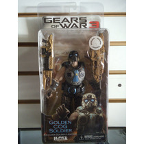 Golden Cog Soldier Exclusivo Gears Of War 3 Neca