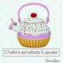 Chaleira Esmaltada Cupcake 1,6l + Brinde