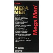 Gnc Mega Men Multi Vitamina 180 Conde