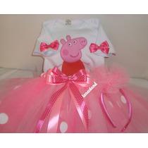 Fantasia Peppa Pig Tutu Bailarina - Personalizada - Completa