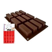 Molde De Silicon 12 Cavidades Rectangulares Brownies Jabones