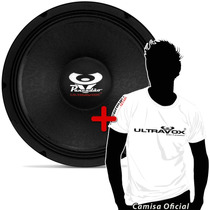 Woofer Ultravox Pancadão 12 400 W Rms C4012 +camiseta