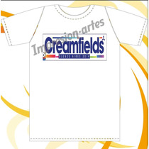 Creamfields - David Guetta - Remeras De Modal Estampadas