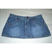 Minifalda De Jeans Azul Bien Cortita