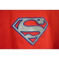 Polera Manga Larga, Superman, Talla 12--14