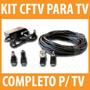 Kit Completo Para Ligar Câmera Cftv Direto Na Tv Entrada Rca