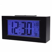 Relógio Dispertador Digital Com Iluminação Noturna Led Azul
