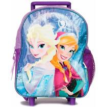 Mochila Frozen Con Carro 12 Original Escolar Infantil Disney