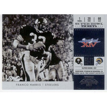 2011 Playoff Cont Super Bowl Tickets Franco Harris Steelers