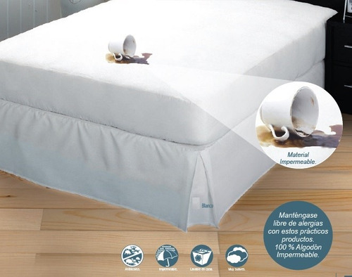 Protector de colchon impermeable antiacaros ind mat qs ks - Protector de colchon impermeable ...