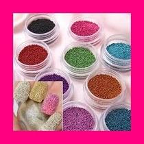 Glitters Decoracion Profesional De Uñas Caviar Escarcha S22