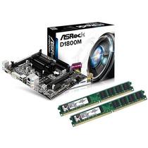 Kit Asrock D1800m Celeron Dual Core 2.58ghz + 8gb Memória
