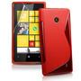 Capa Tpu S-type Nokia Lumia 520 N520 + Película De Vidro