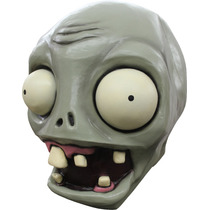 Mascara Plantas Contra Zombies De Latex Adulto Halloween