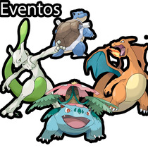 Eventos Mewtwo Ho Shiny, Charizard, Blastoise, Venusaur