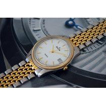Bulova Aço E Ouro - Um Charme De Relógio.